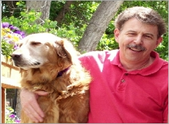 Rick Viehdorfer and his trusty dog Miles